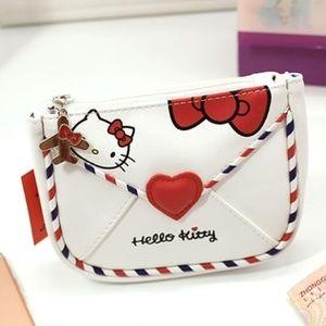 Hello Kitty Bag Air Mail Kitty w/ Red Bow Zipper